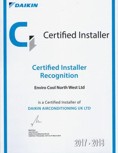 Daikin Certification